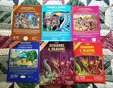 VTG 1980 TSR Dungeons & Dragons Basic Set Box + Booklets + Bonus Books