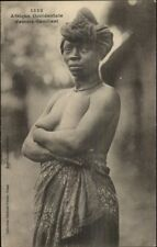Occidental Africa Native Nude Woman Bare Breasts c1910 Postcard jrf