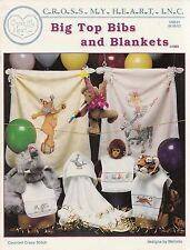 BIG TOP BIBS AND BLANKETS VINTAGE CROSS STITCH PATTERN BOOK CIRCUS BEAR, SEAL