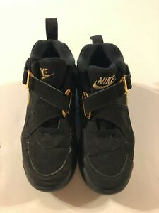 Nike Air Force Max Charles Barkley Black & Gold Boys' Shoes Size 6