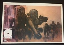 Ashley Wood World War Robot Poster Print By IDW  Publishing 3A 3AA Rare Promo