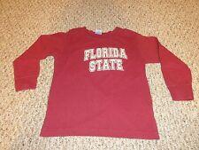 KIDS GARNET FLORIDA STATE UNIVERSITY FSU SEMINOLES LONG SLEEVE SHIRT SIZE 5/6