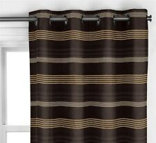 JOHN LEWIS KABU LINED EYELET CURTAINS COLOUR BLACK SIZE W228CM X L137CM