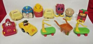 Vintage 1987 - 1990 Wendy's Wind Up + McDonald's Happy Meal Transformer Toys lot