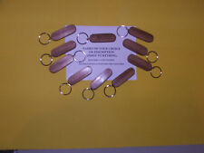 PERSONALISED MAHOGHANY KEYRINGS-NAMES ADDED-HAND POLISHED £1-10 EACH-POST 99p