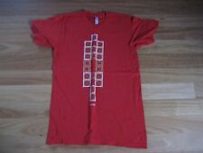 LADIES CUTE RED COTTON SHORT SLEEVE TOP BY AMERICAN APPAREL SIZE S - AUS 10/12