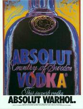 ABSOLUT Andy WARHOL Artist  Sweden LIQUOR Print AD Advertisement 1988