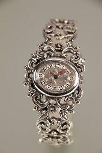 Bergland Damen Trachtenuhr Silber 835 Spangenuhr Armbanduhr