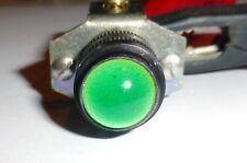 Voyant à cabochon vert en verre 12/16 volts Ba9s  réglable US modèle ES101 NOS