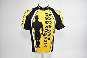 XS Men's Team Gold's Gym Verge Short Sleeve Cycling Jersey BUY ONE GET ONE FREE