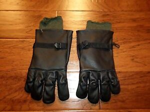 U.S MILITARY STYLE D-3A LEATHER GLOVES COLD WET WEATHER SIZE 5 LARGE W/LINER