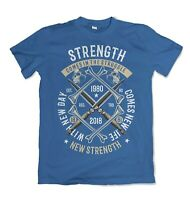 Strength mens t shirt Gym Workout Training Functional Crossfit S-3XL
