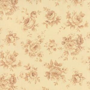 Moda Fabric Roses and Chocolate 32924 11 Cream Floral ~ per long quarter