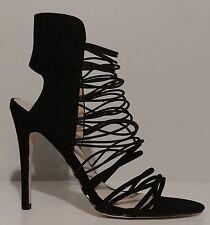 "NEW!! Catherine Malandrino Black Suede Sandals 5"" Heels Size 9M US 39M EU"