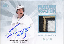 11-12 SP Authentic Simon Despres /100 Auto Patch Limited Rookie 2011