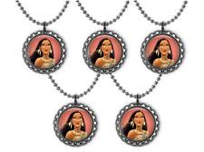 5 Disney Princess POCAHONTAS 3D Bottle Cap Necklace Birthday Party Favors