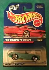 HOT WHEELS '58 CORVETTE COUPE COLLECTOR #780 5 HOLE W/ ENGINE MALAYSIA 1997