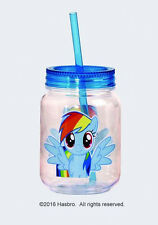 My Little Pony Rainbow Dash Image Double Wall 12 oz Acrylic Mini Mason Jar, NEW