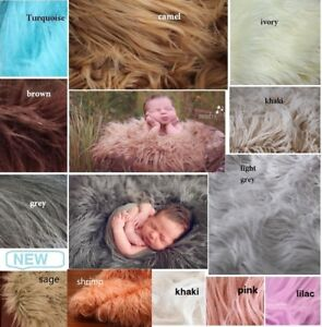 NEW Mongolian Long Faux Fur Baby Fabric Stuffer Blanket Photography Photo Prop