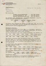 RHEDA (Bez. Minden), Brief 1933 betr. Freiblebendes Angebot, SIMONSWERK GmbH