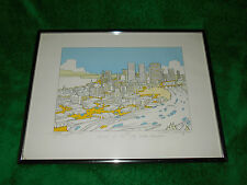 """Tim Robinson print signed and numbered """"1983 Seattle Convention"""""""