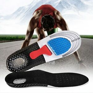 1 Pair Soft Silicone Gel Honeycomb Massaging Insoles Running Athletic Shoes Pads