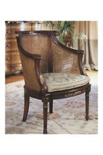 Double Rattan Armchair With Cushion Antique Reproduction 7039