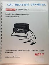 Keithley 580 Micro-ohmmeter Service Manual w/Schematics P/N 580-902-01 Rev.F