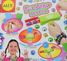 Alex Foil Bead Maker Kids Craft Jewelry Kit Necklace Bracelet Rings Girls New