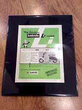 LAMBRETTA Vintage Original 1963 LI150 LI125 Advert Poster INNOCENTI SCOOTER