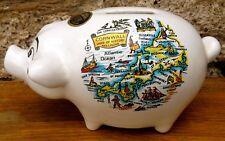 Vintage BRETBY CERAMIC CORNWALL SOUVENIR PIGGY BANK