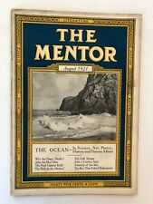 Rare Vintage Historic The Mentor Magazine August 1921 The Ocean Science Art