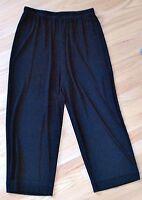 Chico's Travelers Crop Capri Pants WIDE LEG Black Chicos Size 1 (Misses M, 8)