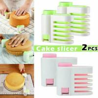 2Pcs Even Cake Slicing Leveler Bread Cutter Baking Pastry Tools Kitchen Useful