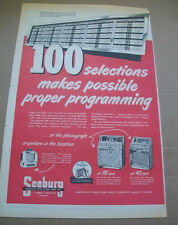 Seeburg 100 Selections Select-o-matic phonograph 1951 Ad- makes possible proper