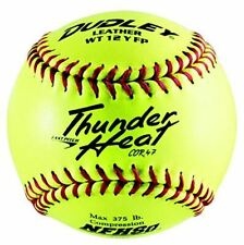 Dudley NFHS Thunder Heat Leather 12-Inch Yellow Fast Pitch Softball, .47/375-Pou