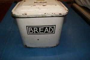Vintage steel bread bin