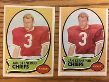 1970 Topps Football Lot of Two(2) Jan Stenerud Rookie Cards #25 KC Chiefs HOF RC