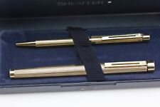 Sheaffer Targa 1005 Gold Plated Fountain Pen and Ballpen ,Boxed and Stickered