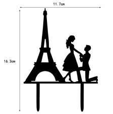 Eiffel Tower Paris Proposal Black Acrylic Wedding Cake Topper Bakell Baking