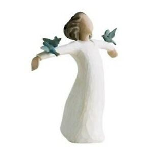 Willow Tree Happiness Figurine with Blue Birds 26130