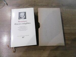 ancien livre pléiade Montaigne oeuvres complètes 1967