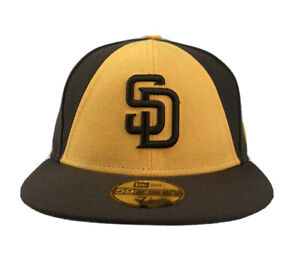 San Diego Padres MLB New Era 59FIFTY fitted hat baseball cap Brown/yellow
