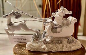 Bath & Body Works~~Santa Reindeer sleigh magnet candle topper~~NWT