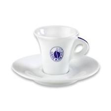 6 TAZZINE IN CERAMICA CON PIATTINO ORIGINALI CAFFE' BORBONE