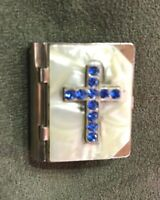 Vintage Small Religious Rosary Box & Rosary w/cross on top.
