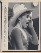 Elizabeth Manley reacts to score- Canadian Silver 2/27/88- Press Photo