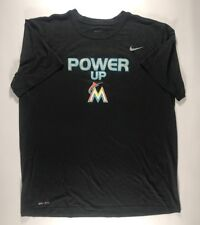 Miami Marlins Team Issued Nike Strength Power Up Drifit Shirt Size XL