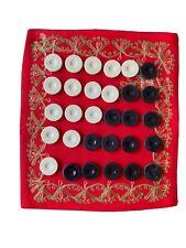30 Vintage Backgammon game pieces Black & Cream