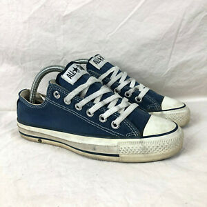 Vintage 80s 90s CONVERSE CHUCK TAYLOR Low Sz. 5.5 Blue Made in USA VTG Sneakers